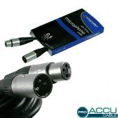 ACCU Cable Pro XLR male - XLR female 50 cm