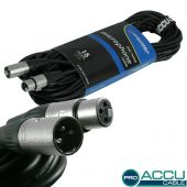 ACCU Cable Pro XLR male - XLR female 15 mtr