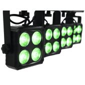 EUROLITELED KLS-180 Compact Light SetCompact light set with 4 spots, 4 strobes, IR remote and bag for mobile use