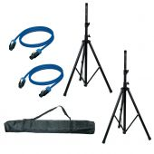 Speaker Accesory Set - SAS01;2 stands,bag,cable The AMERICAN AUDIO speaker assessory set SAS-01