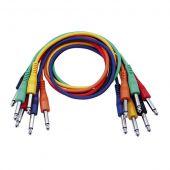 Dap audio FL12 - 6 gekleurde gebalanceerde Patch Kabels 90cm