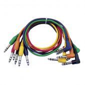Dap audio FL15 - 6 Gekleurde gebalanceerde Patch kabels 60cm