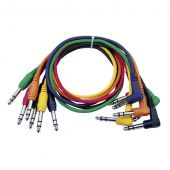 Dap audio FL15 - 6 Gekleurde gebalanceerde Patch kabels 90cm