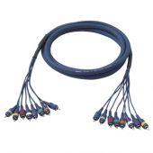 DAP 8 way studio snake 8 x cinch > cinch 6 mtr