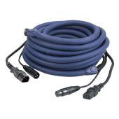 Dap Audio IEC & XLR Male - IEC & XLR Female 1,5M LICHT Power/Signal Kabel