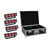 EUROLITE Set 4x LED CBB-4 COB RGB Bar + Case