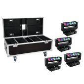 EUROLITE Set 4x LED TMH-X Bar 5 Beam + Case