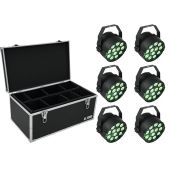 EUROLITE Set 6x LED PARty TCL Spot + Case TDV-1
