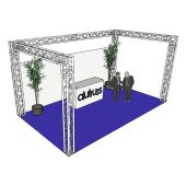 ALUTRUSS Truss set QUADLOCK 6082 U-Figure 7x4x3.5m (WxDxH)