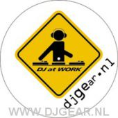 DJ AT WORK special design slipmats (set)