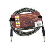 DIMAVERY Instrument-kabel, 3mtr , zwart/zilver