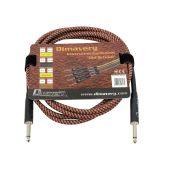 DIMAVERY Instrument-kabel, 3mtr , Bruin/rood