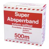 Afzetband  / Afzet lint rood / wit 500mtr x 75mm op rol