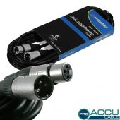 ACCU Cable Pro XLR male - XLR female 5 mtr