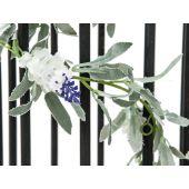 EUROPALMS Bloeiende Guirlande, kunstmatig, wit, 180cm