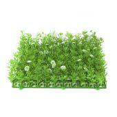 EUROPALMS Kunstgrasmat, groen-wit, 25x25cm