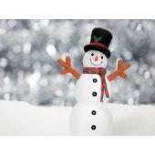 EUROPALMS Opblaasbare figuur Sneeuwman, 180cm