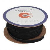 Showgear Velcro loop Klitten band, 2cm breedte rol van 100m, sew on