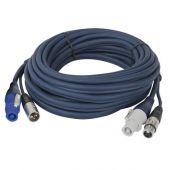 DAP Powercon / XLR Combi power & Audio Kabel 10meter