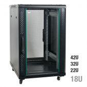 Showgear RCA-FSG Network Cabinet, Glass Door 18U