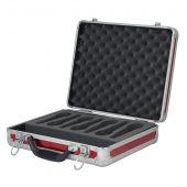 Dap microfoon case voor 7 micro incl schuim rood