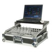 Dap d7576 mixer case voor 19 inch mixer met bovenplaat voor laptop