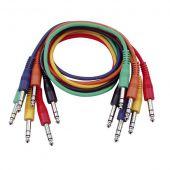 DAP FL1230  6 gekleurde gebalanceerde Patch Kabels 30cm