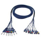 DAP studio snake 8 x mono jack >8 x rca ( cinch ) 3 mtr