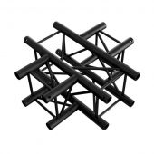 Milos QCF41 BLACK Cross 4-way Pro-30 Vierkant F Truss