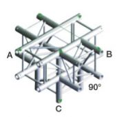 Showtec FQ30024 Vierkant Truss Cross + Down 5-way