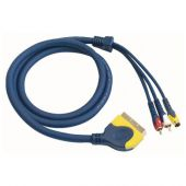DMT FV12 - Scart naar 2 RCA Male and 1 S-VHS Male 1,5mtr