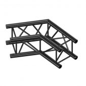 Milos QCVU22|2WAY120DG BLACK Corner 120° Pro-30 Square G Truss