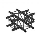 Milos QCV41|4WAY BLACK Cross 4-way Pro-30 Square G Truss