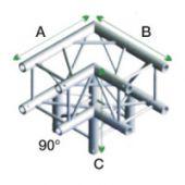 Milos QLF30 Vierkant Truss Hoek 3-way 90°