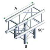 Showtec PQ30017 Vierkant Truss  90° T-cross 3-way