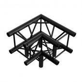 Showtec Corner 3-way 90° BLACK, Pro-30 Square P Truss