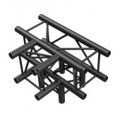 Showtec T-Cross + Down 4-way BLACK, Pro-30 Square P Truss