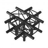Showtec Cross + Down 5-way BLACK, Pro-30 Square P Truss