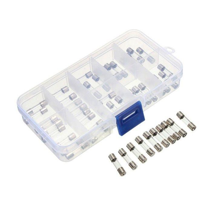 100 stks ZEKERING Asortimentsdoos 5X20 5mm * 20mm Glas zekeringen