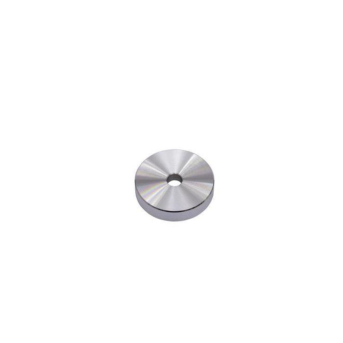 Puck single centre-piece aluminium silver Single adapter