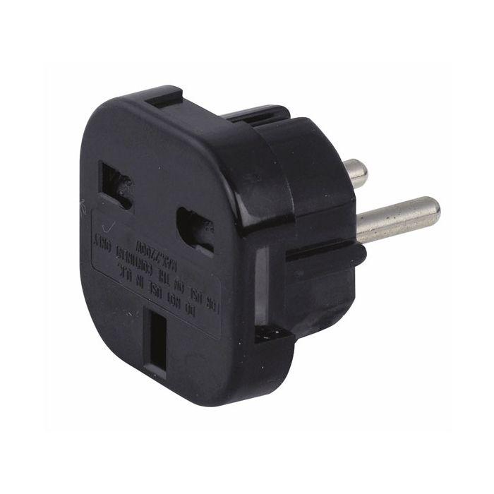 Showtec Schuko to UK plug adapter 230V/240V