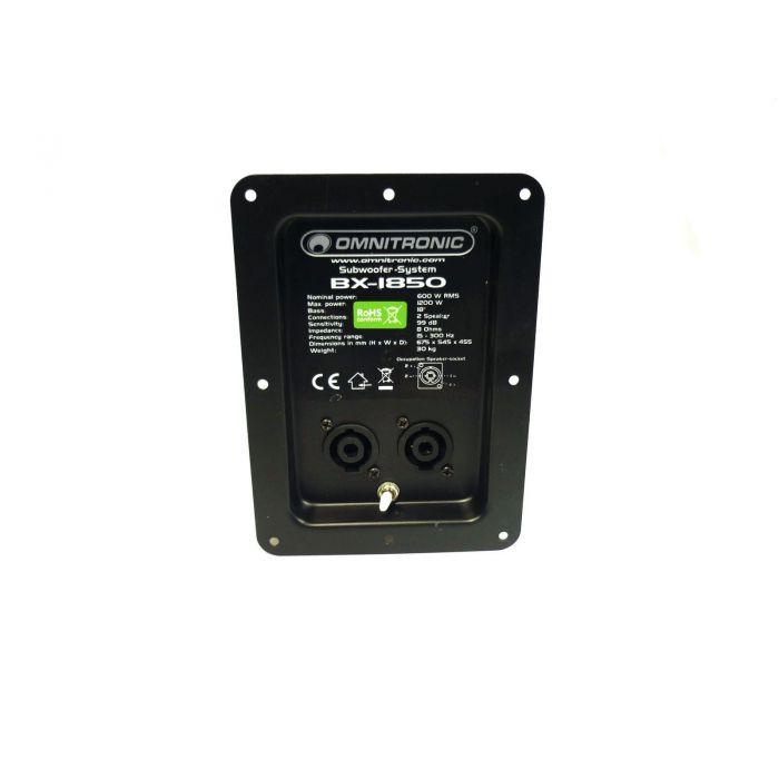 Omnitronic Crossover BX-1850 met aansluitpaneel